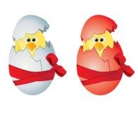 Ostereier und Hühner Stockbild