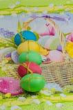 Ostereier von verschiedenen Farben Stockbild