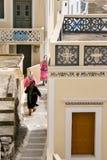 Osterferien im Dorf von olympos Insel von Karpathos in Griechenland Lizenzfreies Stockbild