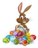 Osterhase mit Eiern Stockfotografie