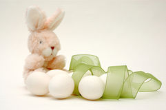 Osterhase und Eier Stockfotografie