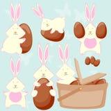 Osterhasen lieben Ostereier! Stockbild