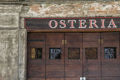 Osteria Royalty Free Stock Photography