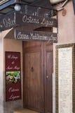 Osteria Ligure餐馆 库存照片