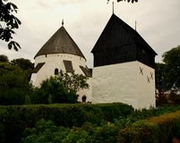Osterlas kirke. Osterlas Kirke - one of the four existing churches on the island rotundowych Stock Photos