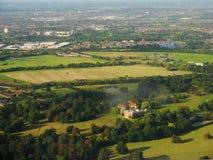 Osterley-Park ist ein großer Park in London Es gibt Osterley-Villa stockbilder