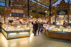 Ostermalm market hall in Stockholm Stock Photos