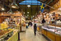 Ostermalm market hall in Stockholm Stock Image