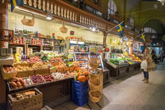 Ostermalm market hall in Stockholm Royalty Free Stock Photo