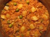 Ostern-Abendessen-Topf von Bacalao lizenzfreie stockfotografie