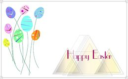 Ostern Art Deco Backgrund Illustration Stockfotos