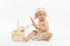 Ostern-Baby-Häschen stockfotos