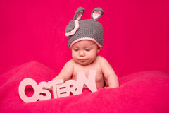 Ostern with baby Stock Photos