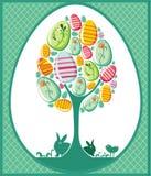 Ostern-Baumkarte Lizenzfreies Stockbild