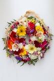 Ostern-Blumen-Kranz Lizenzfreie Stockfotografie
