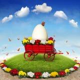 Ostern-Blumenbeet stockfotos