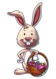 Ostern Bunny With ein Korb von Eiern 1 Lizenzfreie Stockfotos