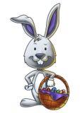 Ostern Bunny With ein Korb von Eiern 2 Lizenzfreies Stockbild
