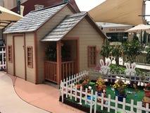 Ostern Bunny House Stockbild