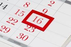 Ostern-Datum am Kalender Stockfotografie
