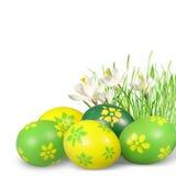 Ostern-Dekoration mit Ostereiern. Lizenzfreie Stockbilder