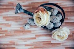 Ostern-Dekoration mit Pastellfarben Lizenzfreie Stockfotos