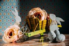 Ostern-Dekoration mit Pastellfarben Stockfotografie