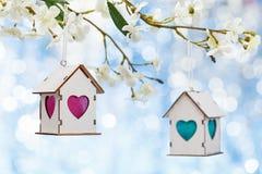Ostern-Dekoration mit Pfirsichblüte stockbilder