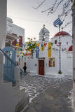 Ostern-Dekoration in Mykonos Stockbild