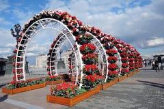 Ostern-Dekorationen in Moskau Lizenzfreies Stockfoto