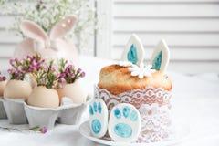 Ostern-Dekorationen und -festlichkeiten Stockfoto