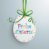 Ostern Easter Price Sticker Egg Green Ribbon Royalty Free Stock Photos