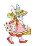 Ostern ein Damhirschkuhkaninchen Lizenzfreie Stockfotos