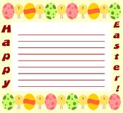 Ostern-Einladung Lizenzfreie Stockfotos
