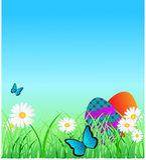 Ostern-Einladung stock abbildung