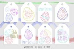 Ostern etikettiert Ansammlung Lizenzfreie Stockfotos