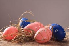 Ostern färbte Eier Lizenzfreies Stockfoto