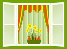 Ostern-Fenster Stockfotografie