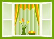 Ostern-Fenster Stockbild