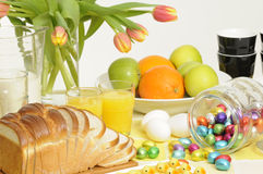 Ostern-Frühstück Lizenzfreie Stockfotografie