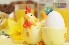 Ostern-Frühstück Stockbild