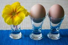 Ostern-Frühstück mit Blume lizenzfreie stockfotografie