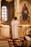 Ostern, Gebetzeremonie der orthodoxen Kirche. Lizenzfreie Stockfotos