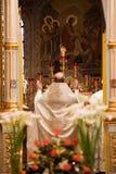 Ostern, Gebetzeremonie der orthodoxen Kirche. Stockfoto