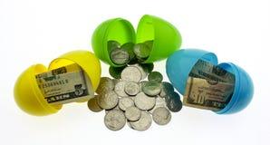Ostern-Geld Stockfoto