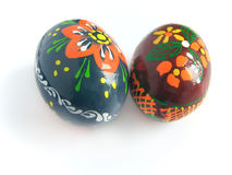 Ostern gemaltes Ei zwei Stockfotos
