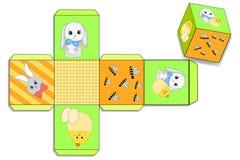 Ostern-Geschenkbox für Geschenk schablone stock abbildung