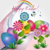 Ostern-Grußkarte lizenzfreie abbildung