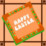 Ostern-Grußkarte Stockbild