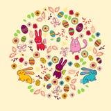 Ostern-Grußkarte mit Blumen Lizenzfreies Stockfoto